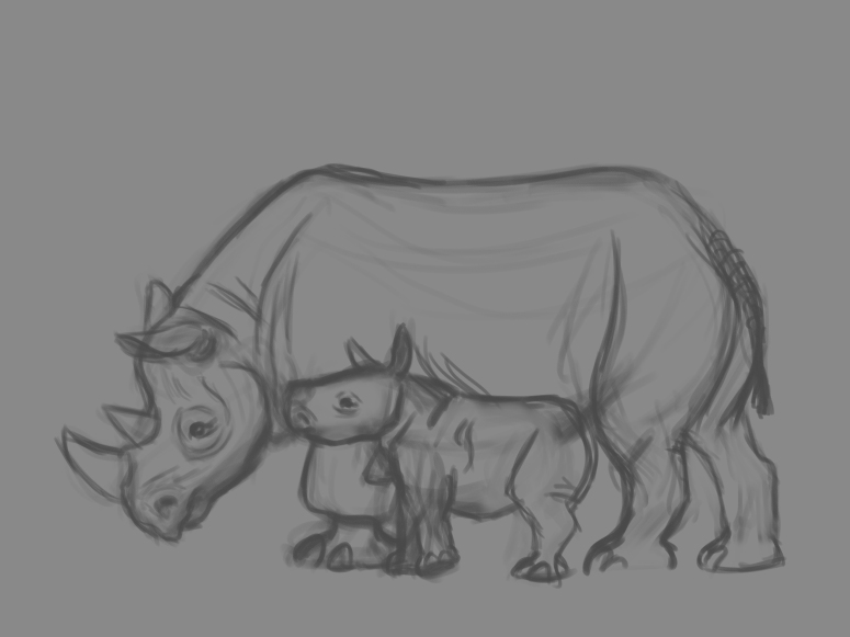 rhino life sketches 4
